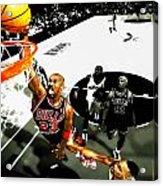 Air Jordan Rises Acrylic Print