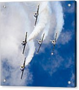 Air Show Baltic Bees Jet Team Acrylic Print