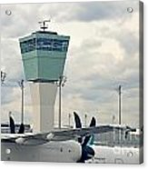 Air Traffic Control Tower Acrylic Print by Sami Sarkis