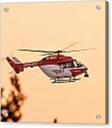 Airborne Eurocopter Bk 117 -  Rescue Helicopter Acrylic Print