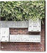 Airborne Monument In Arnhem Acrylic Print