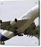 Airbus A380 In Flight Acrylic Print
