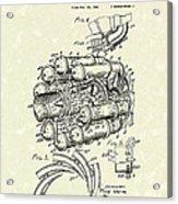 Aircraft Propulsion 1946 Patent Art Acrylic Print