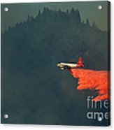 Aircraft Releasing Fire Retardant Acrylic Print