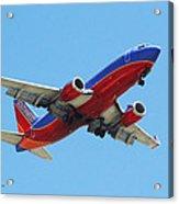 Airliner Landing At Sky Harbor Phoenix Arizona Acrylic Print