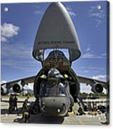 Airmen And Soldiers Load A Ch-47 Acrylic Print by Stocktrek Images