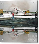 Airplane Crash Drill Landscape Altered Version Acrylic Print