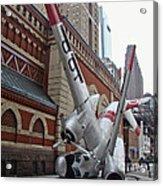 Airplane Sculpture In Philadelphia Pa - Navy S2f Acrylic Print