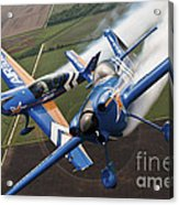 Airplanes Perform At The Sound Of Speed Acrylic Print by Stocktrek Images