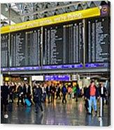 Airport Departure Board Frankfurt Germany Acrylic Print