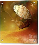 Airship Ethereal Journey Acrylic Print by Bedros Awak