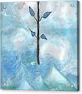 Airy Ace Of Wands Acrylic Print