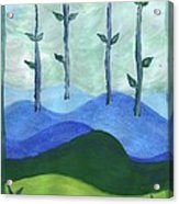 Airy Four Of Wands Acrylic Print