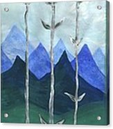 Airy Three Of Wands Acrylic Print