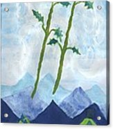 Airy Two Of Wands Acrylic Print