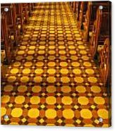 Church Aisle Patterned Floor Acrylic Print