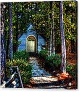 Ajsp Chapel Dry Brush Acrylic Print