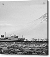 Akademik Sergey Vavilov Russian Research Ship In Port Lockroy As Brash Sea Ice Forming Winter Closin Acrylic Print
