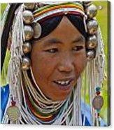 Akha Tribal Woman - Kengtung Burma Acrylic Print