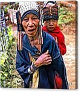 Akha Tribe II Paint Filter Acrylic Print