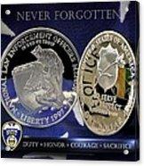 Akron Police Memorial Acrylic Print