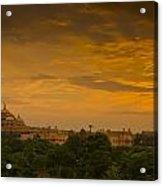 Akshardham Temple Sunset Acrylic Print