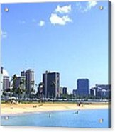 Ala Moana Beach Park And Diamond Head Acrylic Print
