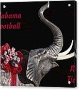Alabama Football Roll Tide Acrylic Print by Kathy Clark