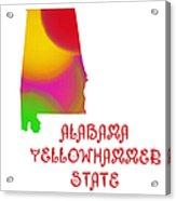 Alabama State Map Collection 2 Acrylic Print