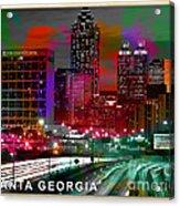 Alanta Georgia Skyline  Acrylic Print