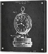 Alarm Clock Patent From 1911 - Dark Acrylic Print