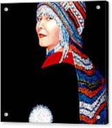 Alaska Alutiiq Woman Acrylic Print