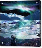Alaska Aurora Knik Glacier Bear Acrylic Print