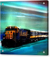 Alaska Aurora Train  # Da 080 Acrylic Print