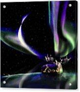 Alaska Aurora Unpredictable Spirals # Da 099  Acrylic Print