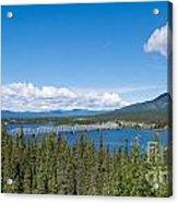Alaska Highway Steel Bridge Teslin Yukon Canada Acrylic Print