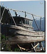 Alaska Ketchikan Dry Dock Acrylic Print