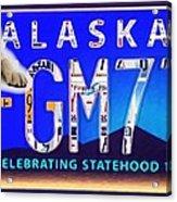 Alaska License Plate Acrylic Print