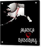Alaska Loves Baseball Acrylic Print