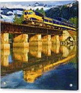 Alaska Railroad Reflections Acrylic Print