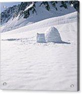 Alaska Range And Glacier With Igloo Acrylic Print
