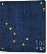 Alaska State Flag Acrylic Print by Pixel Chimp
