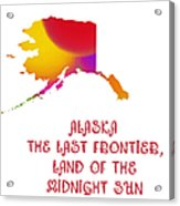 Alaska State Map Collection 2 Acrylic Print
