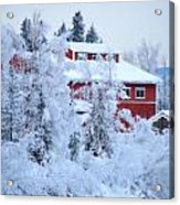 Alaskaland Train Station I Acrylic Print