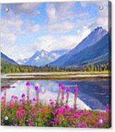 Alaskan Horizons Oil Painting Acrylic Print