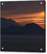 Alaskan Mountain Sunset Acrylic Print