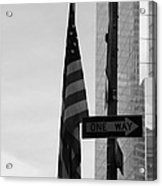 Albany Street In Black And White Acrylic Print