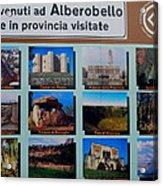 Alberobello Italy Acrylic Print