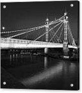 Albert Bridge At Night  Acrylic Print