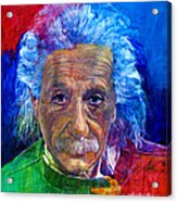 Albert Einstein Acrylic Print by David Lloyd Glover